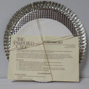 Pampered Chef Flan Pans New